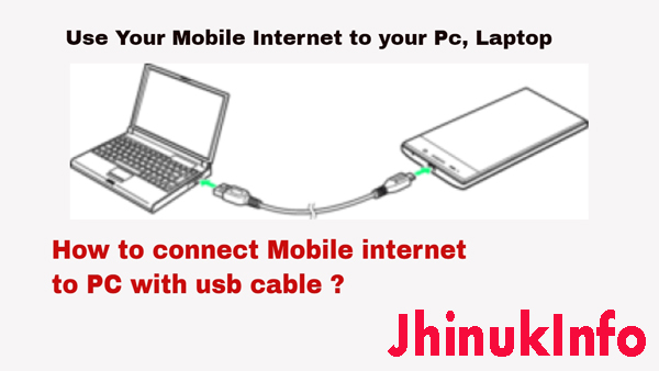 How To Connect Internet From Mobile To Laptop