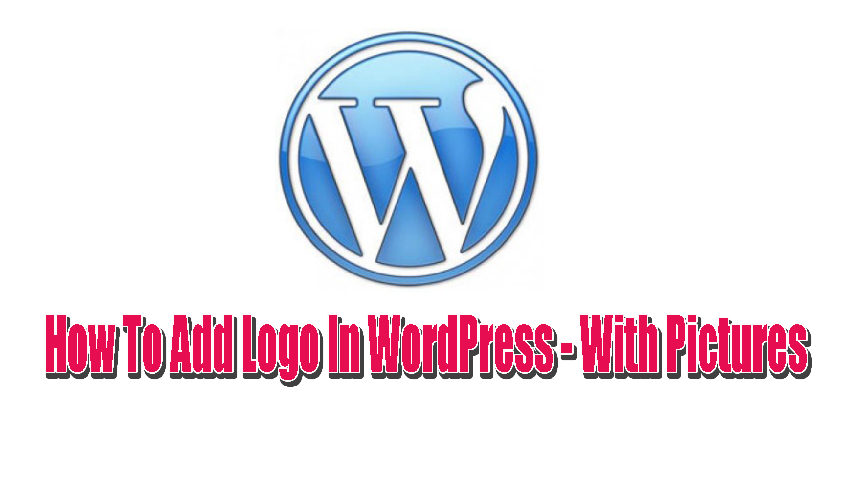 how to add logo in wordpress website with pictures