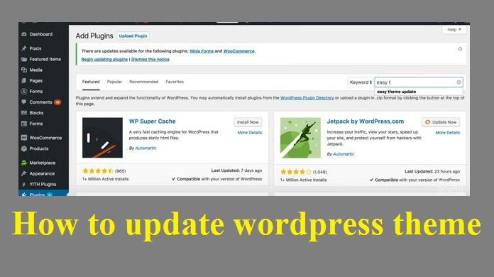 How to update wordpress theme –  With Pictures