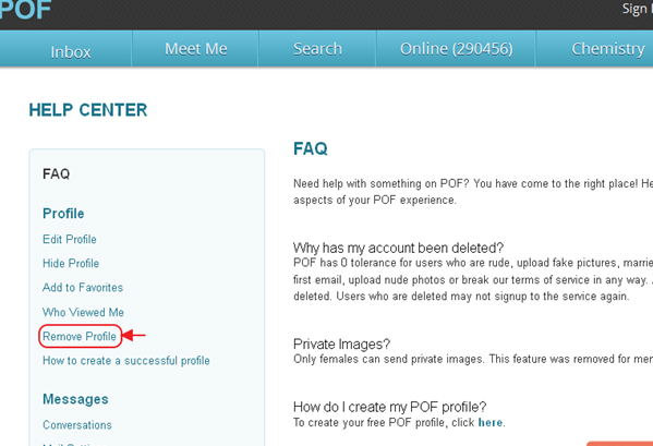 How to delete POF account