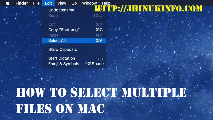 How To Select Multiple Files On Mac